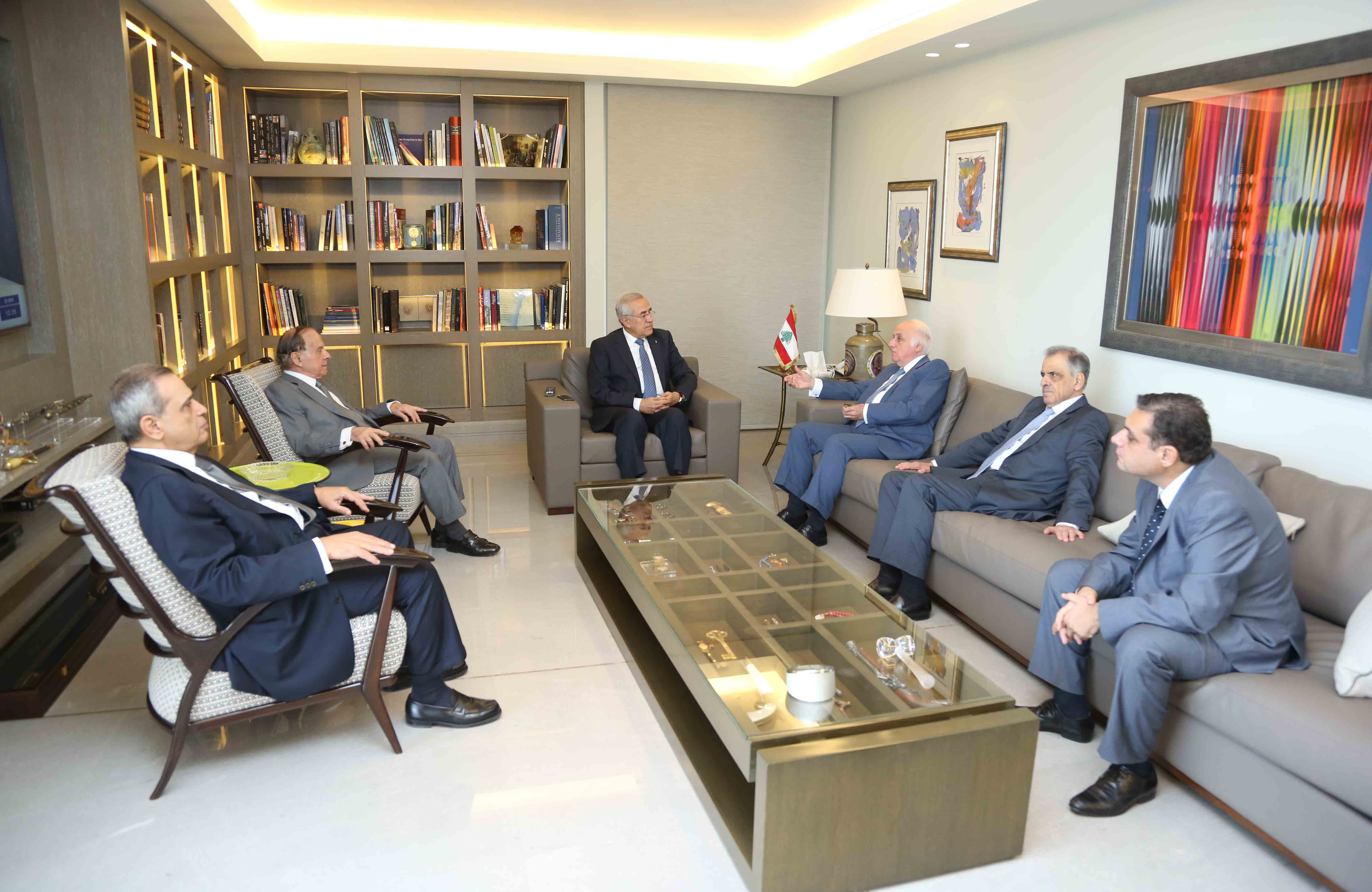 Former President Michel Sleiman Meets a Delegation From The Maronite League